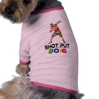 2016 Shotput Camisetas De Perrito