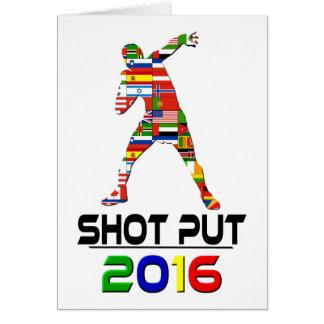 2016 Shotput Tarjetas