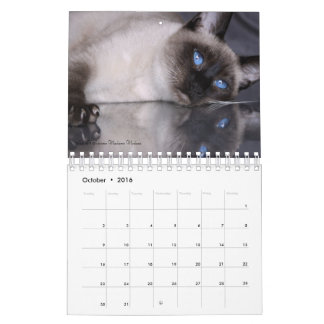 2016 Siamese Royalty Calendar First Edition