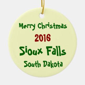 2016 Sioux Falls South Dakota CHRISTMAS ORNAMENT