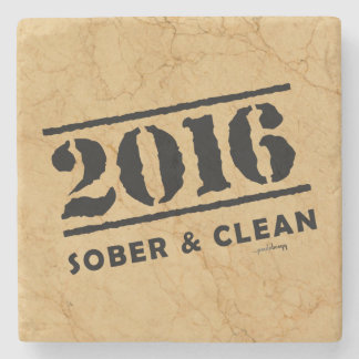 2016: Sober and Clean Stone Coaster