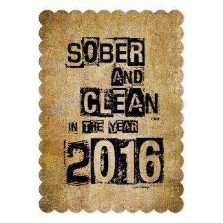 2016: Sober & Clean (12 step drug & alcohol free) Card