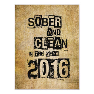2016: Sober & Clean (12 step drug & alcohol free) Magnetic Card