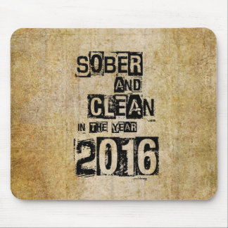 2016: Sober & Clean (12 step drug & alcohol free) Mouse Pad