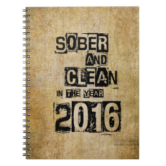 2016: Sober & Clean (12 step drug & alcohol free) Notebook