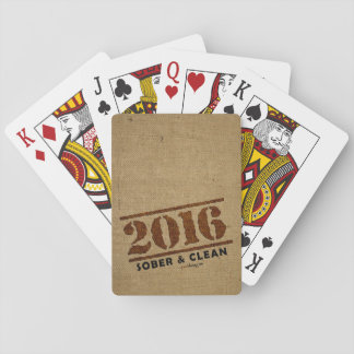 2016: Sober & Clean (12 step drug & alcohol free) Playing Cards