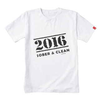 2016: Sober & Clean (12 step drug & alcohol free) Zazzle HEART T-Shirt