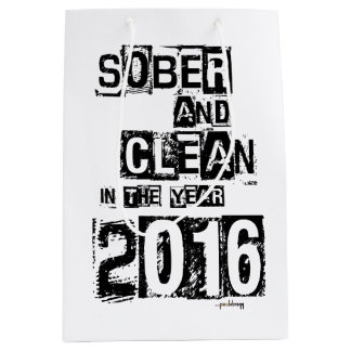 2016: Sobrio y limpio (droga de 12 pasos y sin Bolsa De Regalo Mediana