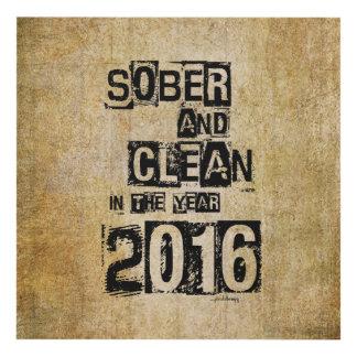 2016: Sobrio y limpio (droga de 12 pasos y sin Cuadro