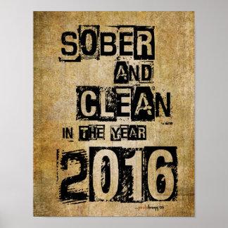 2016 sobrio y limpio (droga de 12 pasos y sin póster