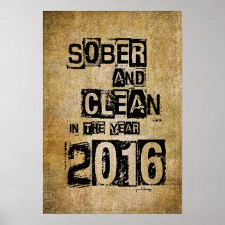 2016: Sobrio y limpio (droga de 12 pasos y sin Póster