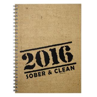 2016 sobrio y limpio libretas