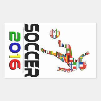 2016:Soccer Rectangle Sticker