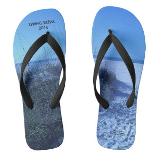2016 SPRING BREAK BEACH SCENE FLIP FLOPS