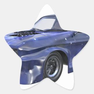 2016 Star Blue Muscle Car Star Sticker