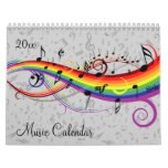 2016 Stylish Music and Musical Notes Calendar