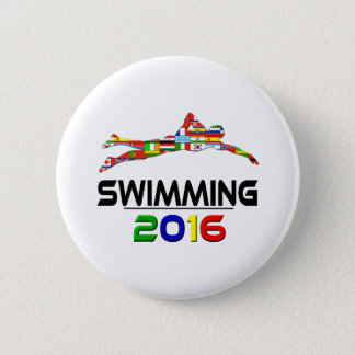 2016:Swimming Pinback Button