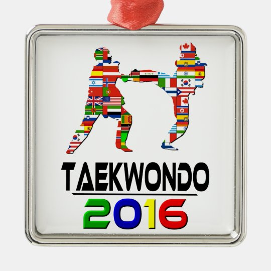 2016:Taekwondo Metal Ornament