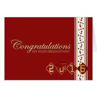 2016 tarjeta roja y del oro de la graduación de la