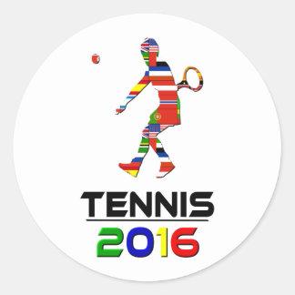 2016: Tenis Pegatina Redonda
