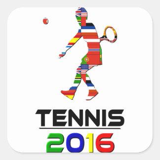 2016:Tennis Square Sticker