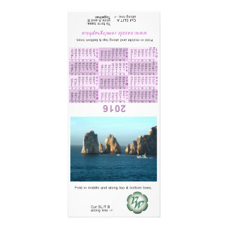 2016 Tent Calendar Rack Card