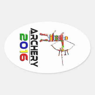 2016: Tiro al arco Pegatina Ovalada
