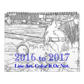 2016 to 2017 Line Art Calendar
