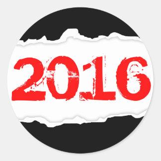 2016 (torn paper) classic round sticker