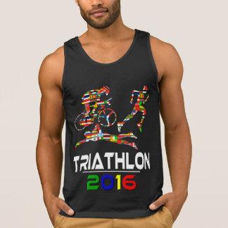 2016: Triathlon Playera De Tirantes