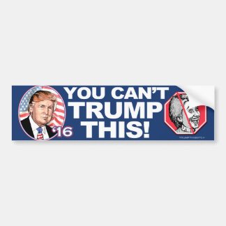 2016 Trump This Anti-Hillary Clinton Bumper Sticker