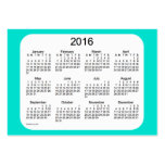 2016 Turquoise Calendar by Janz Business Card