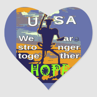 2016 US election Hillary Clinton hope Stronger Tog Heart Sticker
