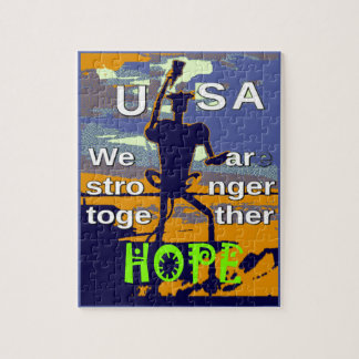 2016 US election Hillary Clinton hope Stronger Tog Jigsaw Puzzle