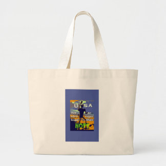 2016 US election Hillary Clinton hope Stronger Tog Large Tote Bag