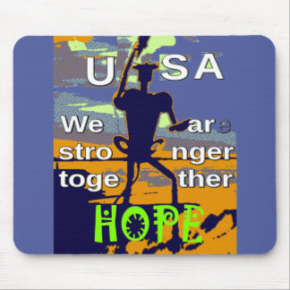 2016 US election Hillary Clinton hope Stronger Tog Mouse Pad