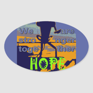 2016 US election Hillary Clinton hope Stronger Tog Oval Sticker