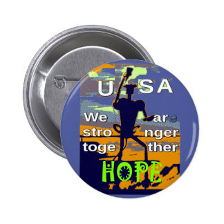 2016 US election Hillary Clinton hope Stronger Tog Pinback Button