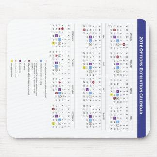 2016 US Equity Option Expiration Calendar Mouse Pad