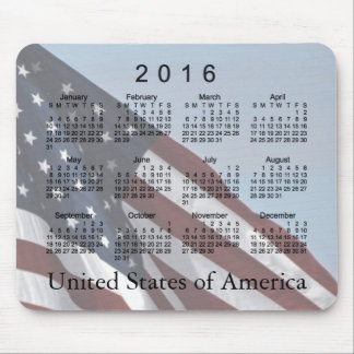 2016 USA Flag Calendar by Janz Mousepad
