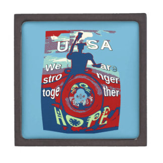 2016 USA Have a Nice Day Hillary Stronger Together Jewelry Box