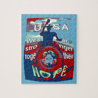 2016 USA Have a Nice Day Hillary Stronger Together Jigsaw Puzzle