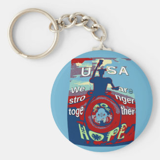 2016 USA Have a Nice Day Hillary Stronger Together Keychain