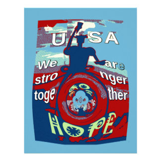 2016 USA Have a Nice Day Hillary Stronger Together Letterhead