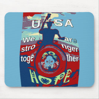 2016 USA Have a Nice Day Hillary Stronger Together Mouse Pad