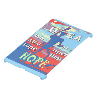 2016 USA Lovely Hillary Blue We Are Stronger Toget iPad Mini Cases