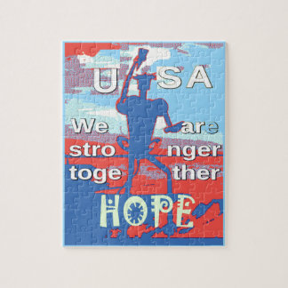 2016 USA Lovely Hillary Blue We Are Stronger Toget Jigsaw Puzzle