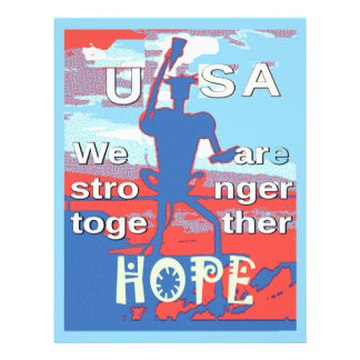 2016 USA Lovely Hillary Blue We Are Stronger Toget Letterhead