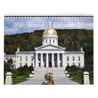 2016 Vermont - Calendar