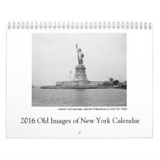 2016 viejas imágenes del calendario de Nueva York